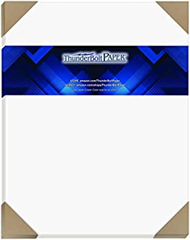 50 Bright White Smooth 80# Card Paper Sheets - 11  X 14   11X14 Inches  Scrapbook Picture-Frame Size - 80 lb/Pound Cover Weight - Quality Paper - Consistency in Print - Smooth Finish