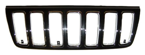 Sherman Replacement Part Compatible with Jeep Cherokee-Wagoneer Grille Assembly (Partslink Number CH1200265)