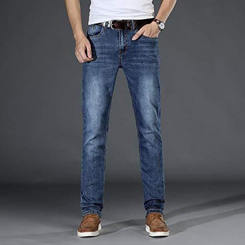 ShFhhwrl Vaqueros de Moda clásica Primavera Otoño Nuevos Pantalones Vaqueros Delgados para Hombre Moda Casual Estilo Clásico Lava