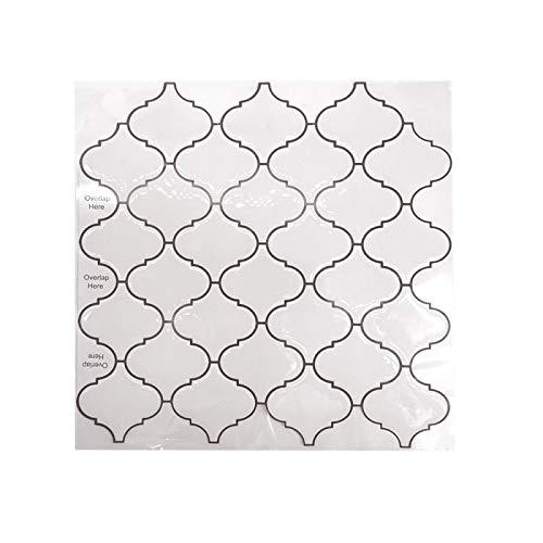 ivAZW Azulejos de Mosaico Adhesivos Pegatinas Impermeable Cocina baño decoración Papel Tapiz Vinilo Resistente al Calor 2 Piezas DJ046 (30,5x30,5 cm)