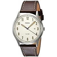 Fossil Men's Forrester Three-Hand Date Brown Leather Watch
