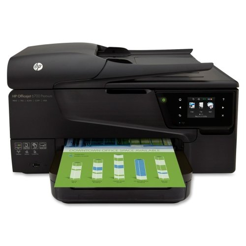 HP Officejet 6700 H711N Inkjet Multifunction Printer - Color - Photo Print - Desktop - Copier/Fax/Printer/Scanner - 16 ppm Mono/9 ppm Color Print - 16 ppm Mono/9 ppm Color Print (ISO) - 17 Second Photo - 4800 x 1200 dpi Print - Touchscreen - 1200 dpi Optical Scan - Automatic Duplex Print - 250 sheets Input - Ethernet - Wireless LAN - USB