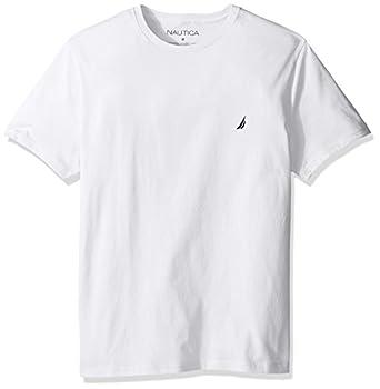 Nautica Men s Short Sleeve Solid Crew Neck T-Shirt Bright White Large