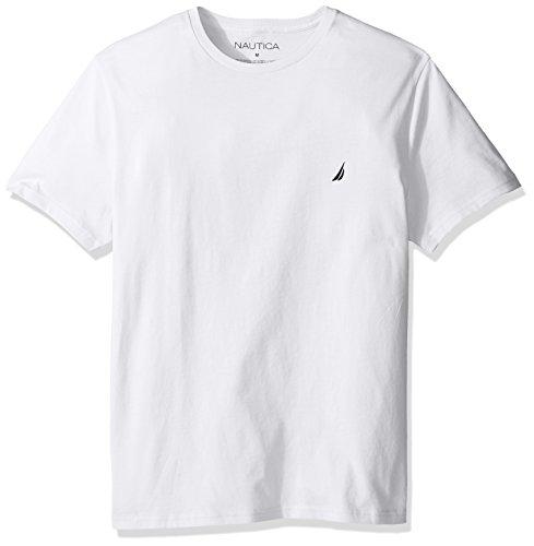 Nautica Men's Short Sleeve Solid Crew Neck T-Shirt, Bright White, X-Large