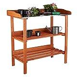Relaxdays, Arancione Tavolo da Giardinaggio in...
