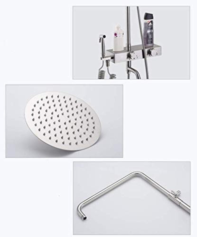 GWFVA Dusche, Brausegarnitur, Brausegarnitur, Edelstahl, Dusche, Brausegarnitur, Unterputz, WC, Badezimmer, Handbrause, Sprinkler, Dusche