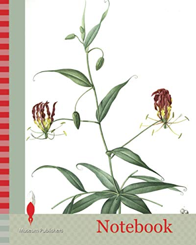 Notebook: Methonica superba, Gloriosa superba, Méthonique superbe, Gloriosa Lily, Flamelily, Glory flower, Climbing lily, Redouté, Pierre Joseph, 1759-1840, les liliacees, 1802 - 1816