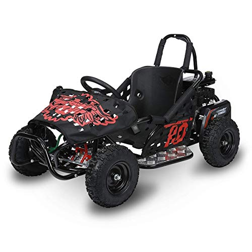 Monster Moto MM-K80-BR Black Frame with Red Graphics Go Kart