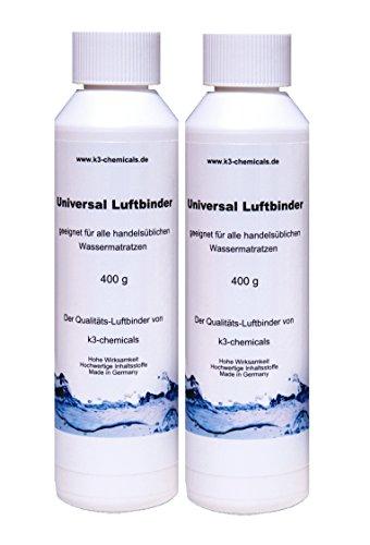 k3-chemicals 2 x Universal Luftbinder für Wassermatratzen (Doppelpack)