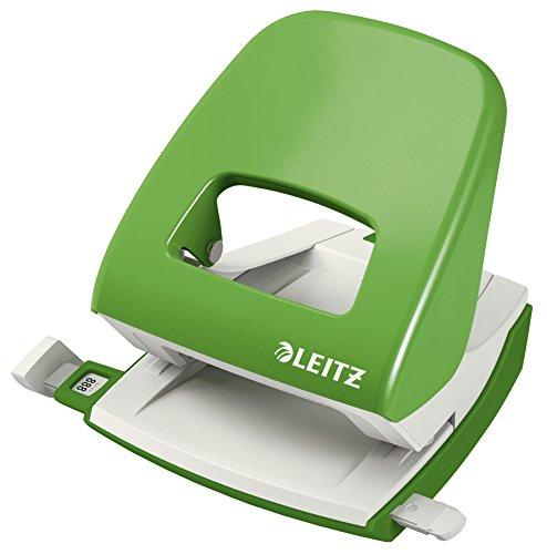 Leitz NeXXt Bürolocher, 30 Blatt, Anschlagschiene mit Formatangaben, Metall, Hellgrün, 50080050