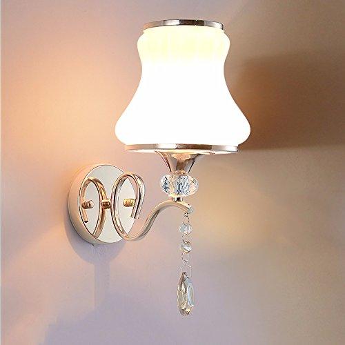 YU-K antieke lampen antieke strijkijzeren wandlamp ideaal voor bar restaurant café woonkamer slaapkamer hal balkon, dimmen, 10 * 36 cm