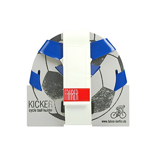 FAHRER Ballhalter | KICKER - für Fußball, Handball, Basketball der Normgröße 5 (Blau/Weiß)