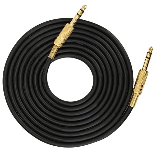 Cable De Guitarra Eléctrica, Cable De Guitarra Carcasa De Aleación De Aluminio Chapada En Oro para TV para Computadora(3M)