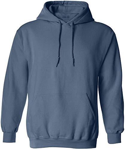 Joe's USA - Big Mens Size Three Extra Large Hoodie Sweatshirts-3XL in Indigo Blue