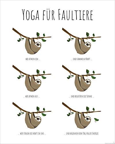 Close Up Yoga für Faultiere - Kunstdruck Janette, Poster - Premium Qualität 170g/m (40 x 50 cm)