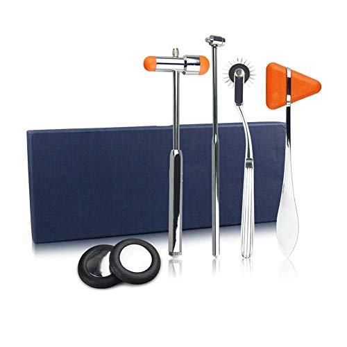 DZWJ Martillo neurológico 4 en 1 Kit de percusión Martillo para Reflejos musculares para el Cuidado de la Salud para Enfermeras, EMS, Estudiantes de Medicina, Sala de emergencias