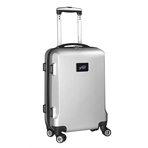 Denco NFL Buffalo Bills Carry-On Hardcase Luggage Spinner, Silver