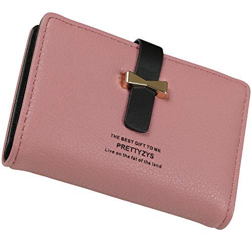 StarrySpirit カードケース レディース 大容量 かわいい おしゃれ クレジット カード入れ カードホルダー カードファイル (ピンク)