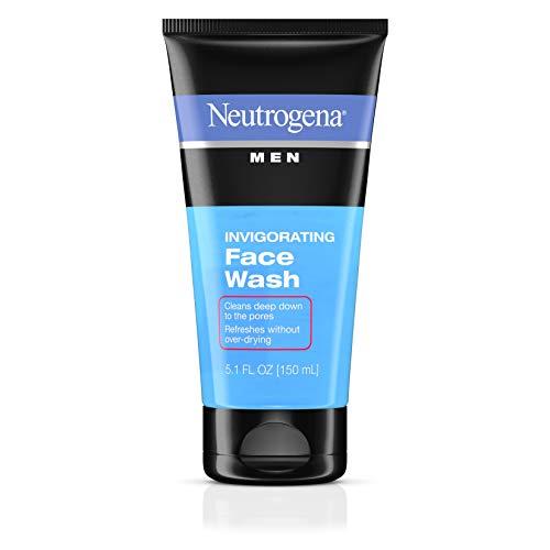 Neutrogena Men's Invigorating Daily Foaming Gel Face Wash, Energizing & Refreshing Oil-Free Facial Cleanser for Men, 5.1 fl. oz (Pack of 6)
