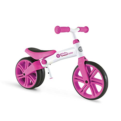 Mondo Toys - Y Velo - Velo Junior Balance Bike - biciletta senza pedali per bambini - peso fino a 20 Kg. - colore rosa - 25342