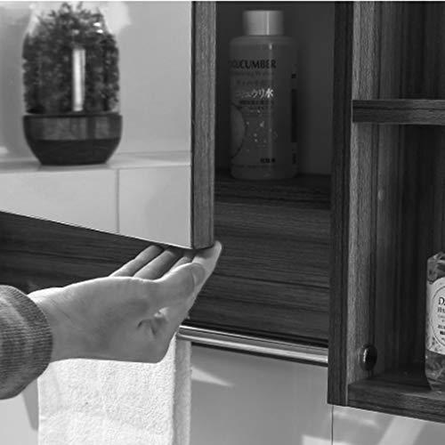 Armoires avec miroir Armoire de Toilette en Bois Massif Boîte à Miroir Murale Miroir de lavabo Placard avec Porte-Serviettes Miroirs de Salle de Bain (Color : Blanc, Size : 80 * 13 * 70cm)