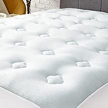 Hansleep Queen Memory Foam Mattress Pad Topper,Cooling Gel Bamboo Mattress Pad Fluffy Mattress Protector with Deep Pocket, Breathable Air Mattress Topper Cover, 60x80 Inches