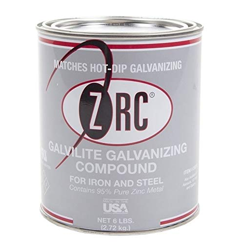 ZRC Galvalite 20012 Cold Galvanizing Compound   Single Quart   Iron and Steel Corrosion Protection   Matches Hot-Dip Galvanized Performance   Contains 95-Percent Metallic Zinc