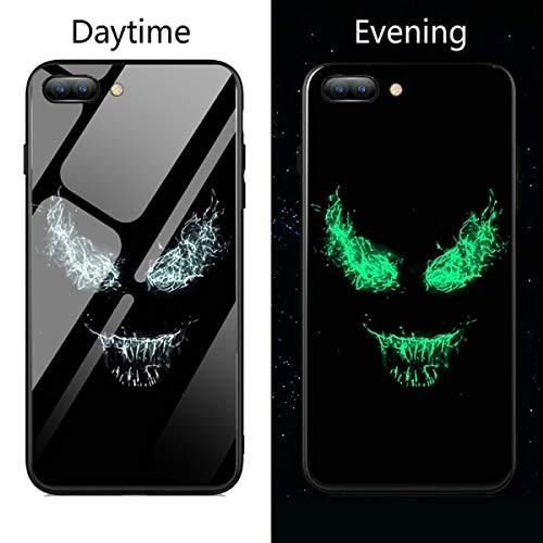 Lovely Cases Store Marvel Deadpool Venom Villain Super Hero - Carcasa de cristal templado luminoso para iPhone 6, 6S, 7, 8 Plus X XS XR XS Max Fashion Back Cover (6, iPhone XR)