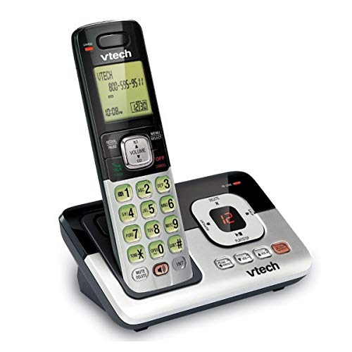 Vtech CS6829 DECT 6.0 Expandable Cordless Phone System with Caller ID and Digital Answering System (1 Cordless Handset)
