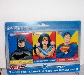Justice League Crayon Set Of 3 Total shopping Crayons Packs 24 Overseas parallel import regular item