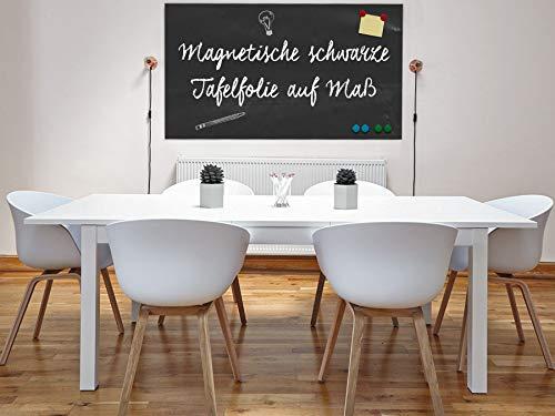 Magnet Tafel Folie | für Kreide & Kreidestifte | selbstklebend | magnetisch | viele Größen | Kreidetafel Magnet Klebefolie (50x30cm)