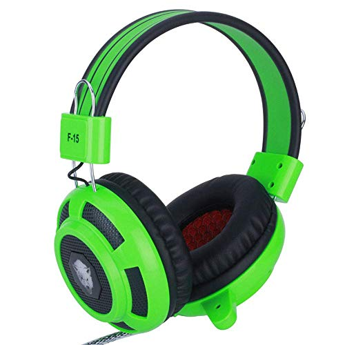 Wired Gaming LED basse lourde musique Casque With1.6m fil 40mm écouteurs Microphone caché Jack Pilotes for PC/Mac/Xbox One // Nintendo Switch, Rouge 8bayfa (Color : Green)