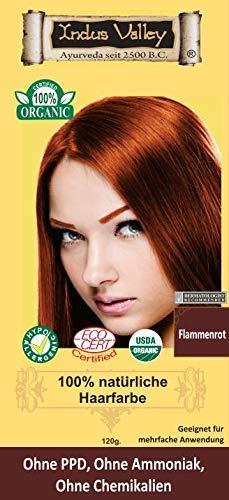 IndoNatura Indus Valley 100% natürliche Haarfarbe Flammenrot Pflanzenhaarfarbe