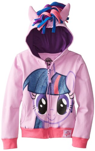 My Little Pony Big Girls' Twilight Sparkle Hoodie, Purple Multi, 8-10/Medium