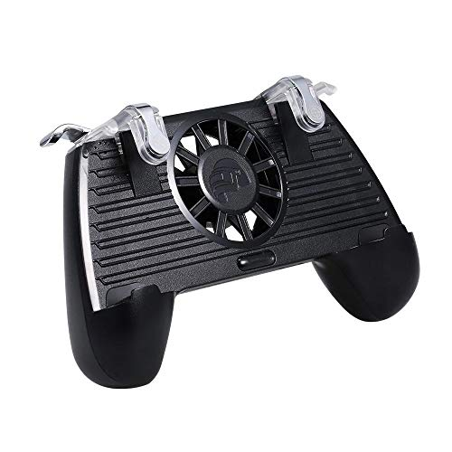 Zacheril Gamepad Gaming Grip Griff Gamepad Handy-Game-Controller mit Energien-Bank-Lüfter for PUBG 4400mAh (Color : 1, Size : One Size)