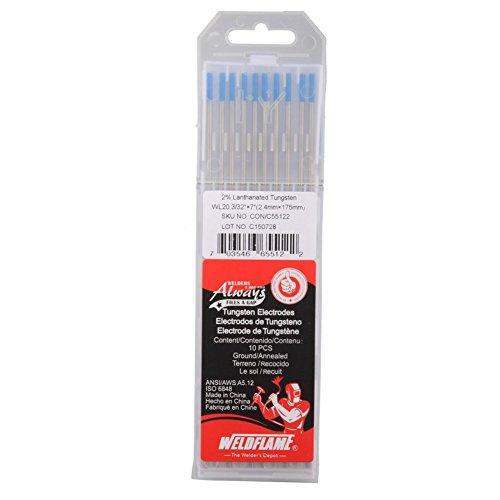 "Weldflame Electrodo de tungsteno WL20 2.0% Lanthanated (azul) 1/8""-7"" (3.2-175mm)"