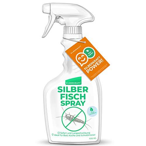 Silberkraft Silberfischspray 500 ml, Silberfische bekämpfen, Sofort- und Langzeitwirkung, Anti-Silberfisch-Mittel, Alternative zu Silberfisch Köder-Dosen und Silberfisch-Fallen, mit Zitronen-Duft