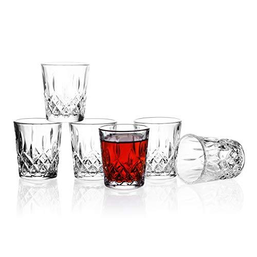 Shot Glasses, Valeways 1.75oz Mini Shot Glass Set of 6/Clear Shot Glasses/Tasting Glasses/Cordial...