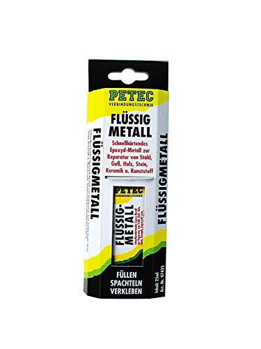 Petec 97425 Flüssigmetal Metallspachtel Spachtelmasse 25 ml