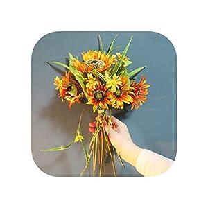 Beautiful Artificial Silk Sunflower Bouquet Summer Wedding Home Decorations Fake Flowers for Living Room