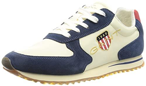 GANT Beja Sneaker, Zapatillas Mujer, Azul Marino Cream, 36 EU