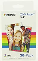 Polaroid ZINK Media 3 x 4 inch Photo Paper for Polaroid Z340 Camera and Polaroid GL10 Printer - Pack of 30