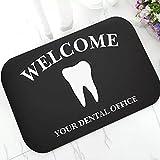 N/A Felpudo Entrada Alfombrilla de Puerta de clínica Dental Fresca con Logotipo de Empresa de Dientes novedosos, Alfombra de Bienvenida, Felpudo de Goma, Bonito Regalo de odontología-40X60CM