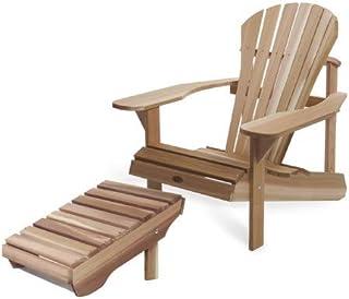 EFERPAO - Conjunto de sillón Athena Muskoka/silla Adirondack + reposapiés Adirondack Ottoman