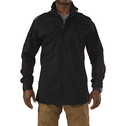5.11 Tactical Men's Taclite M-65 Field Jacket, Poly/Cotton Ripstop, Teflon Treatment, Black, XL, Style 78007