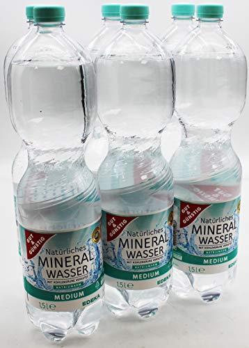 Gut und Günstig Mineralwasser Medium, 6er Pack (6 x 1,5 l) EINWEG