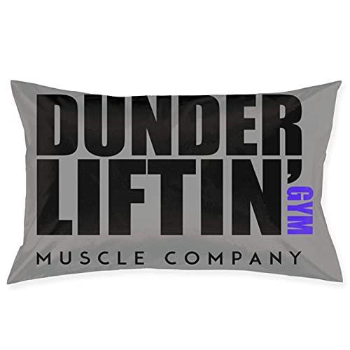 Dunder Lifting Gym Muscle Company Racerback Funda de Almohada Cojín de sofá Decoración Cojín de Coche (50 cm x 76 cm)