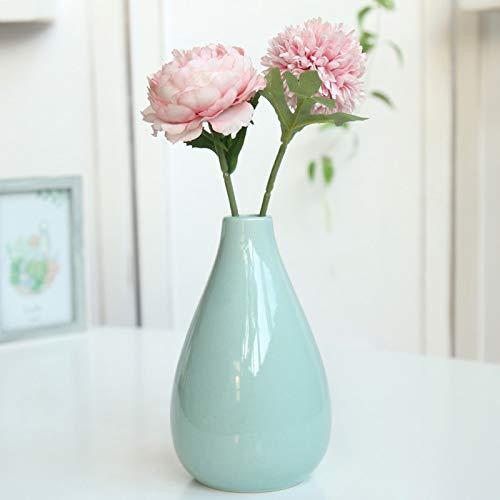 Simple Nordic Ceramic Flower Arrangement Vase, Creative Living Room Crafts Creative Ceramic Planter, Home Decoration Plant Planter, Christmas And New Year Decoration (Color : Cyan)