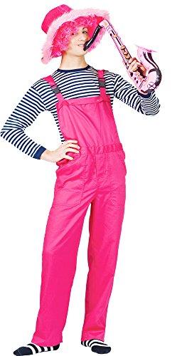 Das Kostümland Latzhose für Erwachsene - Neon Pink Gr. M