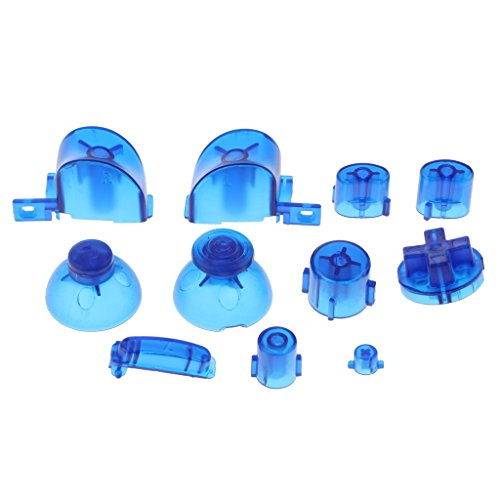 Baoblaze Kit de 11 Boutons en Plastique Confortable pour Manette Contrôleur Nintendo NGC - Accessoire de Jeu Vidéo - Bleu